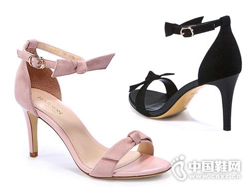 哈森女鞋2018新款高跟凉鞋