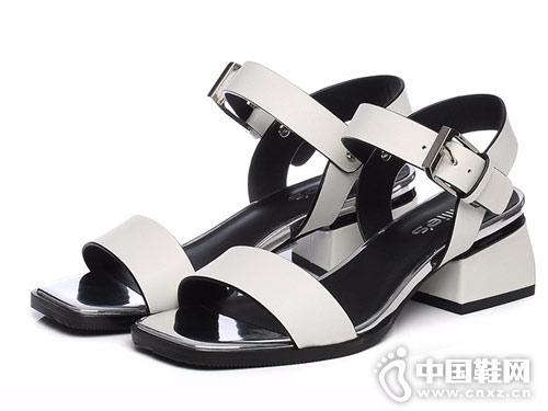 妙丽女鞋2018新款休闲凉鞋