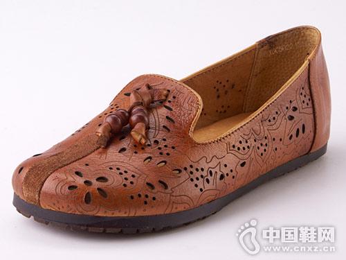 相伴手工特色鞋镂空休闲单鞋新款