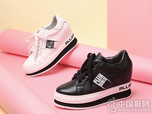 圣恩熙女鞋2018新款坡跟休闲单鞋