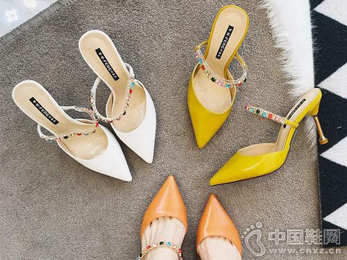 印象风女鞋2018新款厚空凉鞋