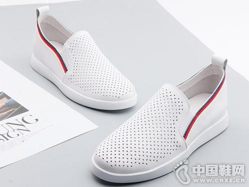 嘉俪多女鞋2018夏季新款小白鞋