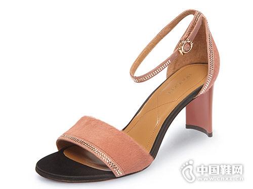 红科女鞋2018新款高跟凉鞋