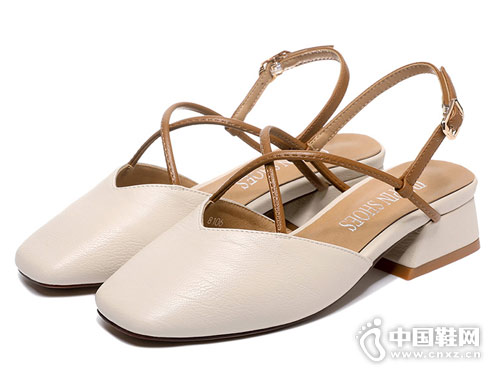莫蕾蔻蕾女鞋2018新款后空单鞋