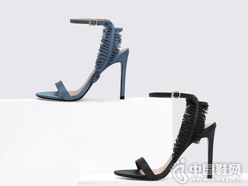 Charles & Keith女鞋2018新款高跟凉鞋
