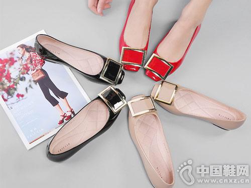 色非女鞋2018新款平底单鞋