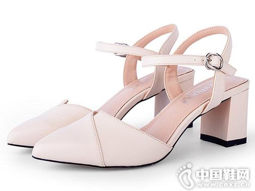 洛曼琪女鞋2018新款春季后空单鞋