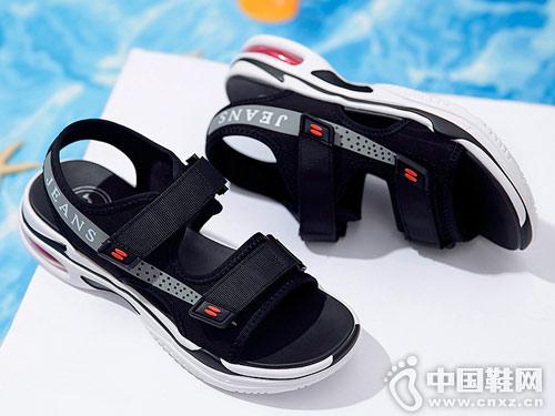 骆驼牌男女鞋2018新款男凉鞋