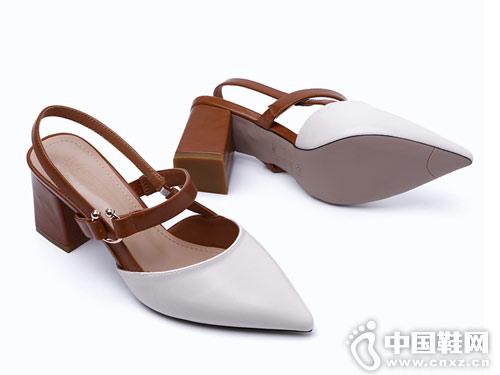米薇卡女鞋2018新款后空单鞋