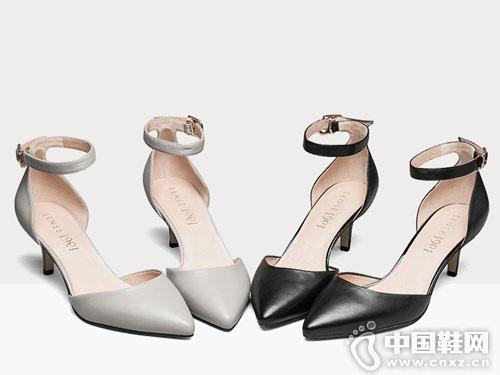 Sense1991女鞋2018新款后空单鞋