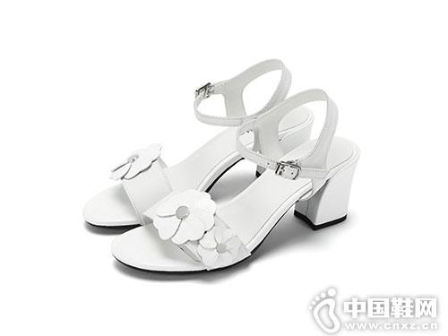 雅氏achette女鞋2018新款小粗跟凉鞋