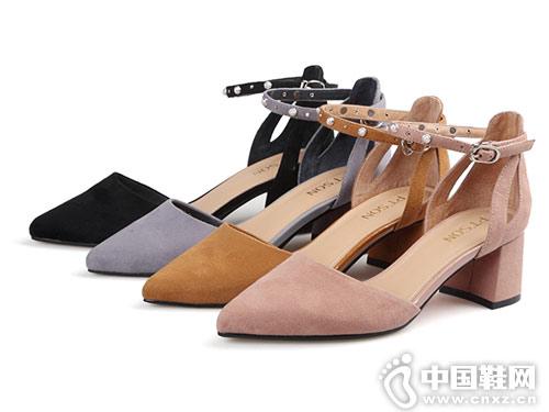 百田森女鞋2018新款中空单鞋