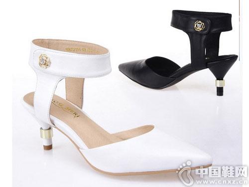 摩熙米昵女鞋2018新款后空单鞋