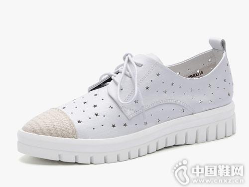 左右缤纷女鞋2018新款休闲鞋