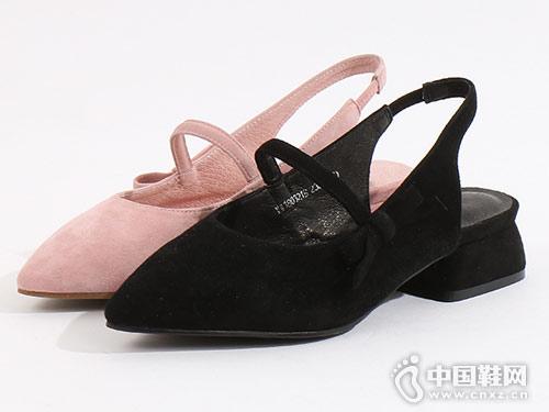 易美特卖女鞋2018新款后空单鞋