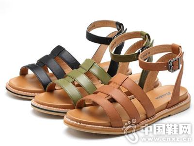 拔佳BATA女鞋2018新款平跟凉鞋