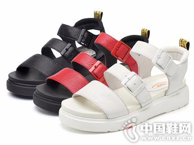 拔佳BATA女鞋2018新款厚底凉鞋