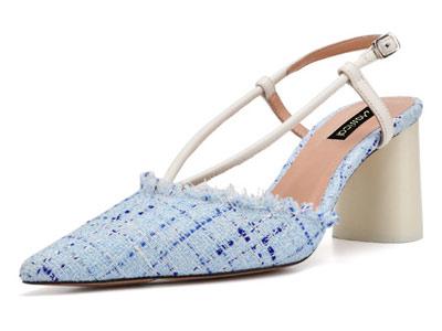 卡斯高女鞋2018新款后空单鞋