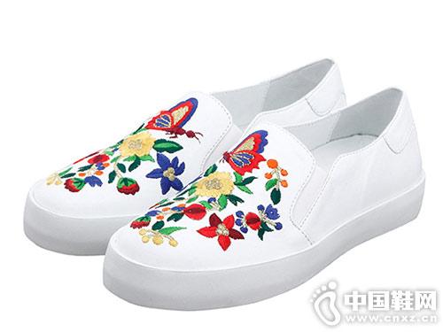 minelli女鞋2018新款小白鞋