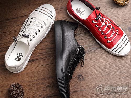 美犀皮鞋2018新款休闲板鞋