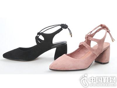 自由姿色女鞋2018新款后空单鞋