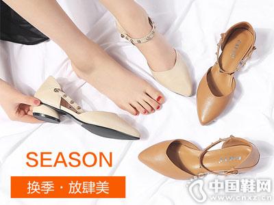 高蒂女鞋2018新款中空单鞋