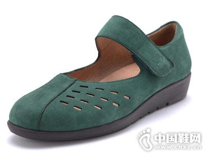 亨达休闲鞋2018新款镂空单鞋
