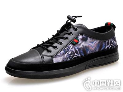 百牛圆皮鞋2018新款休闲鞋