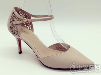 安玛莉女鞋2018新款中空单鞋