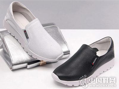 酷斯沃女鞋2018新款厚底单鞋