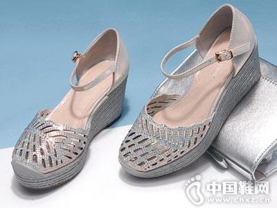酷斯沃女鞋2018新款镂空单鞋