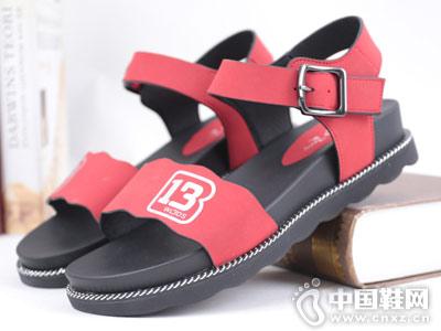双凤皮鞋2018新款平跟凉鞋