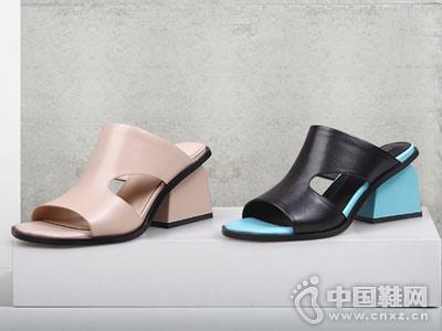 翡丽玫瑰女鞋2018新款凉拖鞋