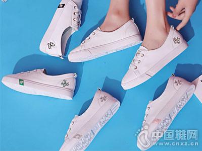 靓典女鞋2018新款小白鞋