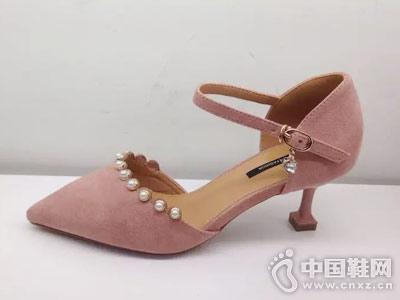 靓典女鞋2018新款中空女鞋