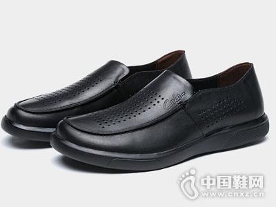 策乐皮鞋2018新款镂空单鞋