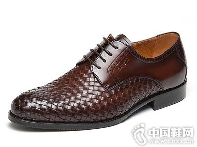 Satchi/沙驰男鞋2018年新款手工编织纹