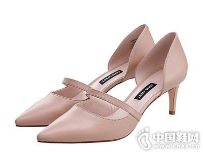 Nine West/玖熙2018春新款羊皮玛丽珍单鞋