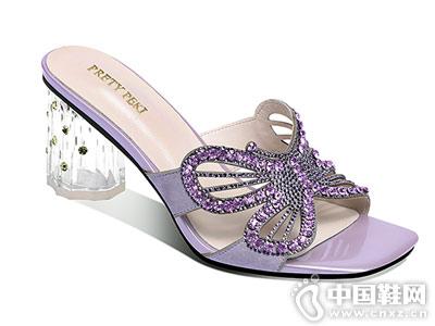 包头凉鞋女2018夏季新款性感蝴蝶结