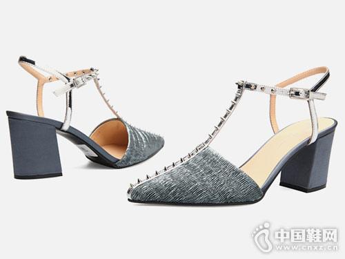 fed2018春季新款T型带包头女鞋