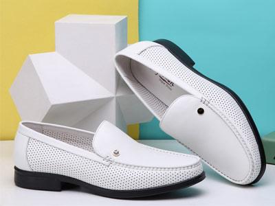 金利来夏季新款男士真皮镂空凉皮鞋