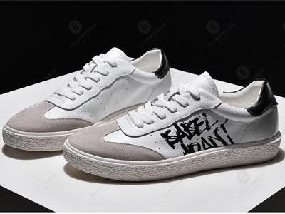 马克华菲夏季男鞋潮流印花小白鞋