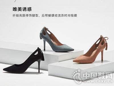 Daphne达芙妮2018秋新款尖头高跟鞋