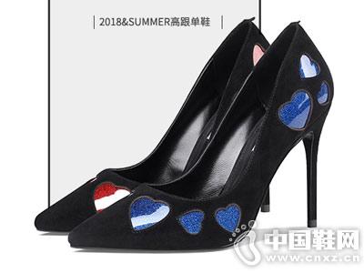 妙龄妙品2018新款夏季黑色高跟鞋