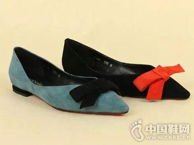 丹比奴时尚女鞋18年秋季新款平底单鞋