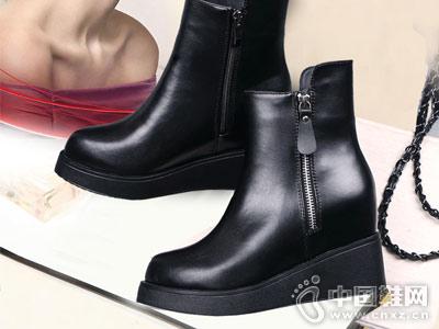 比爱靓点女鞋2018秋冬新款厚底靴