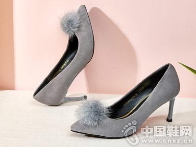 意尔康女鞋2018秋季高跟鞋新品