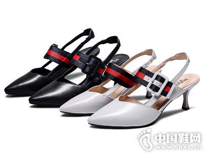 波尔帝奇女鞋2018新款后空单鞋