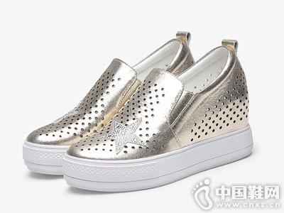 波尔帝奇女鞋2018新款厚底鞋
