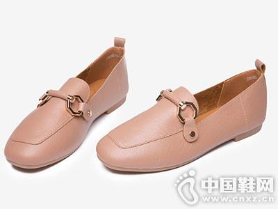 大东女鞋2018秋季平跟鞋